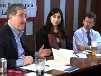 Moderator Professor Robert Mnookin, Panelists, Hassina Sherjan and Michael O&#039;Hanlon